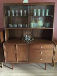 Mid Century China Cabinet, Declaration by Drexel - EPOCH