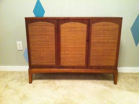 mid century walnut cabinet Lane