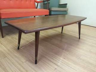 mid century surfboard table solid cherry