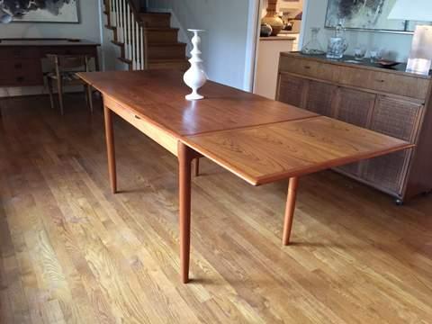 Danish Modern Teak Refectory Dining Table Epoch