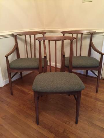 mid century modern elm dining chairs