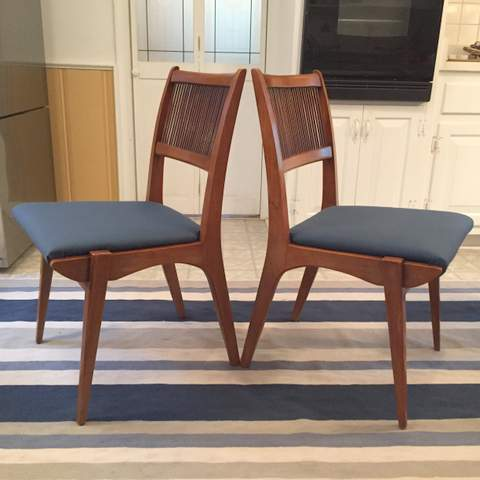 Superb Mid Century Modern Dining Chairs By Drexel Profile Set Of 6 Dailytribune Chair Design For Home Dailytribuneorg
