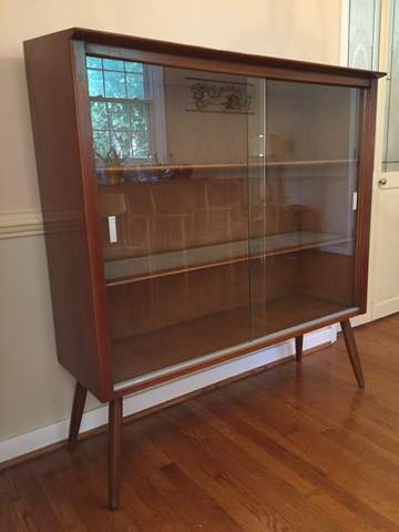 Mid Century Modern Drexel Profile Display Cabinet by John