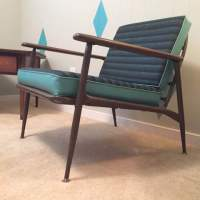 MCM Faux Bois Lounge Chair from the Viko Line by ...