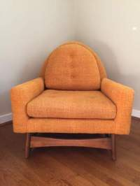 Vintage Mid-Century Modern Lounge Chair by Kroehler with ...