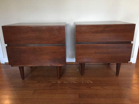 mid century modern american of martinsville nightstands with drawers