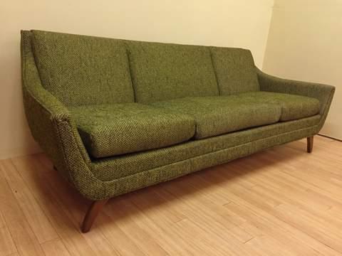 mid century modern sofa adrian pearsall for bassett prestige