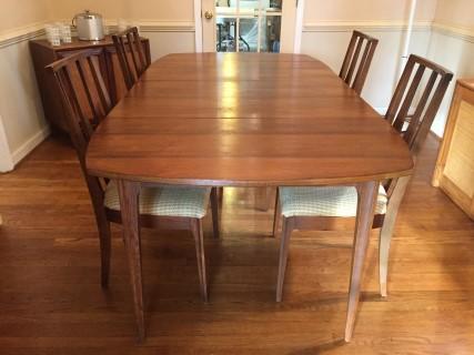 mid century modern broyhill brasilia dining table