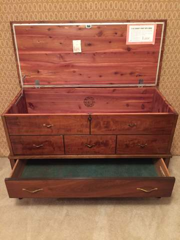 Cedar Lined Blanket Chest With Drawer Lock Amp Key By Lane
