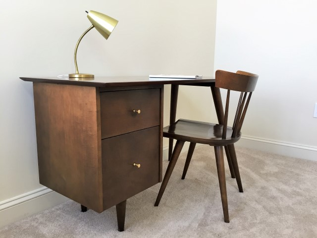 mid century modern desk and chair by Paul McCobb Planner Group Series Winchendon Furniture Company