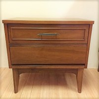 Mid-Century Modern Highboy Dresser and Nightstand by Dixie ...