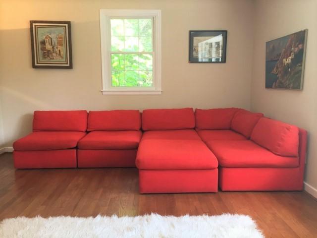 mid century modern Milo Baughman sectional sofa Thayer Coggin