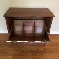 Mid Century Walnut Record Cabinet by Lane - EPOCH