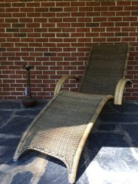 Mid-Century Modern Chaise in Rattan and Bamboo - EPOCH