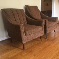 Adrian Pearsall Lounge Chair Brown Dining Room Covers Mid Century Modern Pair Of Upholstered Chairs - Epoch