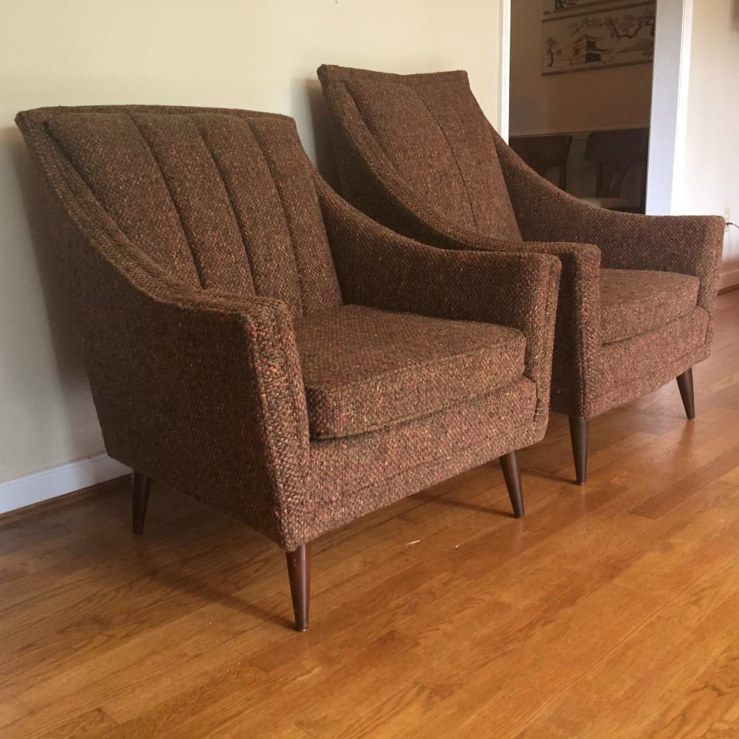 Mid Century Upholstered Chair Mid Century Modern Pair Of Upholstered Lounge Chairs Epoch