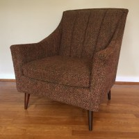 Mid Century Modern Pair of Upholstered Lounge Chairs