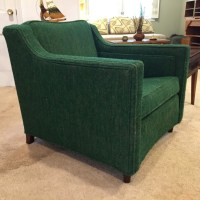 Mid Century Upholstered Lounge Chair with Coordinating ...