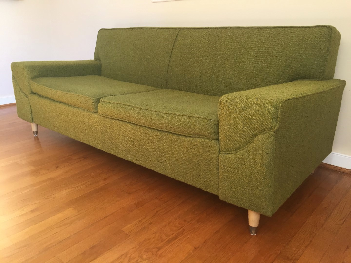 modern retro sofa and loveseat scs refund policy mid century two cushion by kroehler epoch
