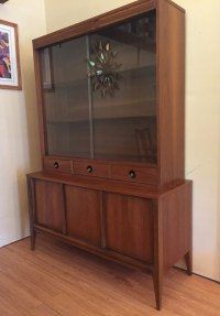 Mid Century Modern Walnut China Cabinet by Basic Witz - EPOCH