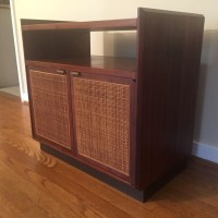 Mid Century Modern Walnut Turntable & Record Storage ...