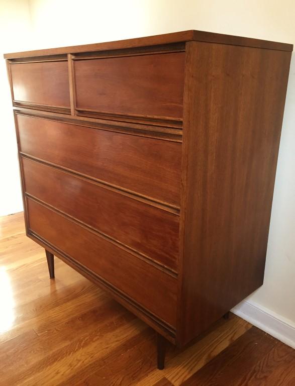 mid century modern highboy dresser by Dixie