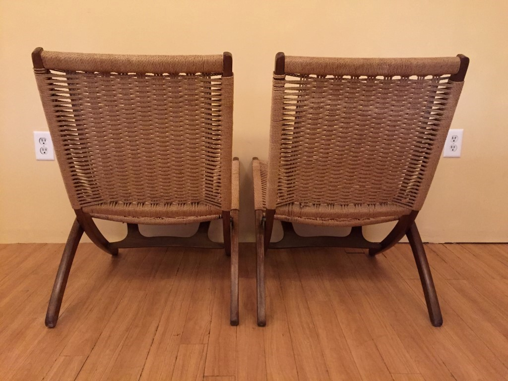 Hans Wegner Folding Chair Vintage Folding Scissor Chairs In The Style Of Hans Wegner