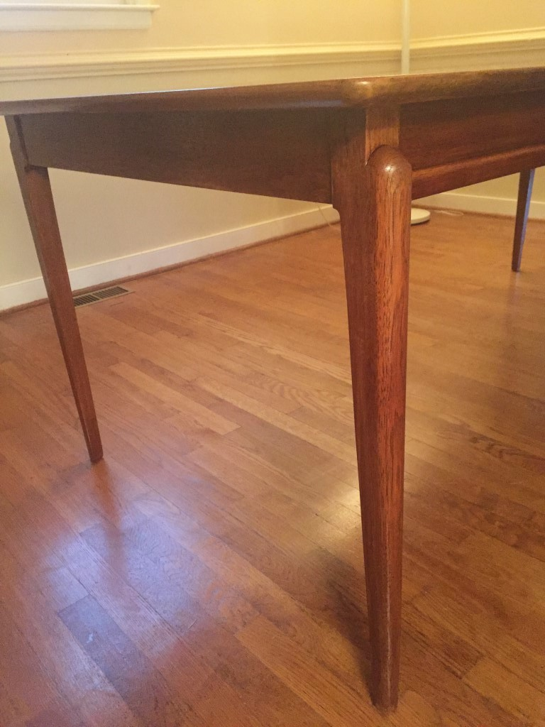 vintage mid century dining table drexel projection