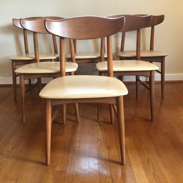 Mid Century Vintage Danish Modern Birchcraft Dining Chairs