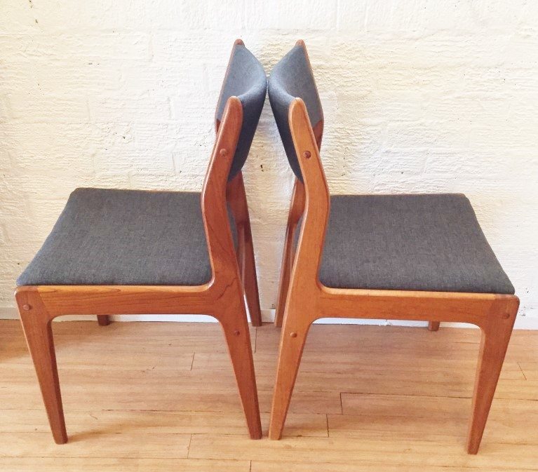 Danish Modern teak dining set table and 8 chairs