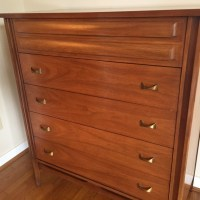 Mid Century Modern Walnut Highboy Dresser by Dixie ...