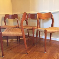 Danish Modern Dining Chair Woven Hanging Pod Niels Moller Model 71 Chairs 4 Epoch