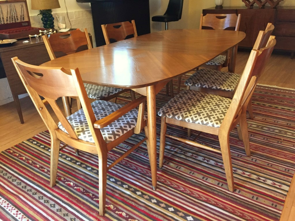 2 chairs and table patio set reclining desk chair staples vintage mid-century pecan dining by hooker - epoch