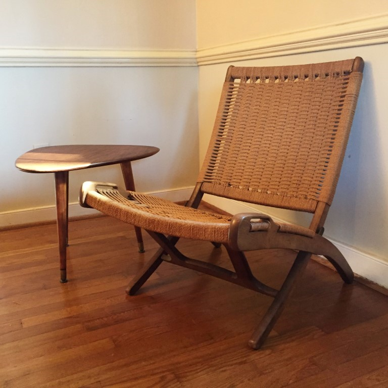 Vintage MidCentury Modern Corded Chair in the style of