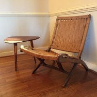 Vintage Mid-Century Modern Folding Rope Chair in the style ...