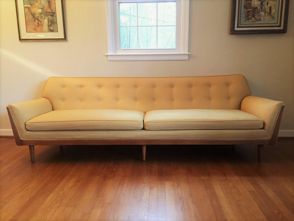 mid century modern custom sofa barney flagg drexel parallel
