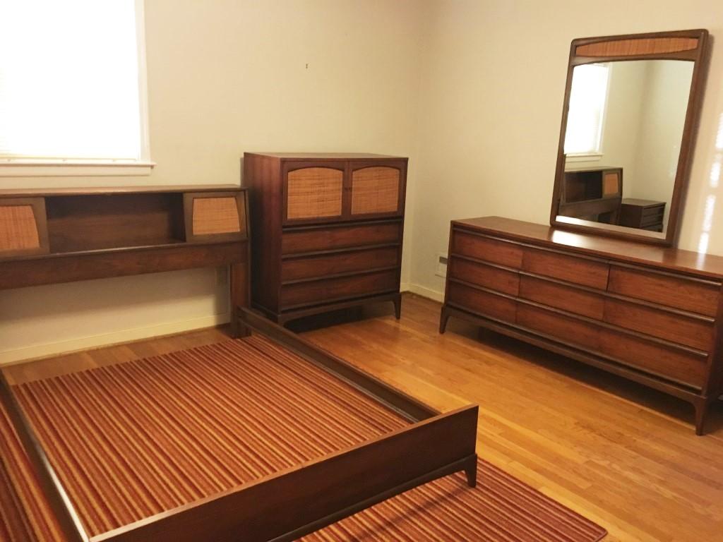 Mid Century Walnut Bedroom Set Rhythm Collection By Lane