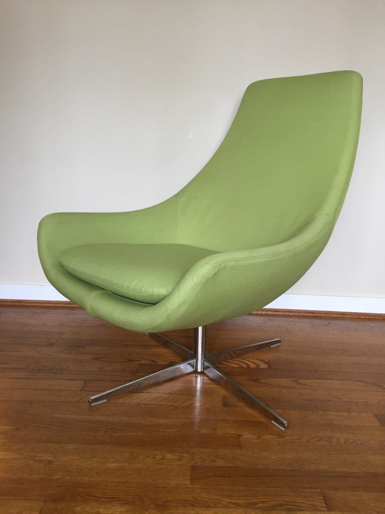 Mid Century Modern Style Egg Chairs  Ottomans by Martin
