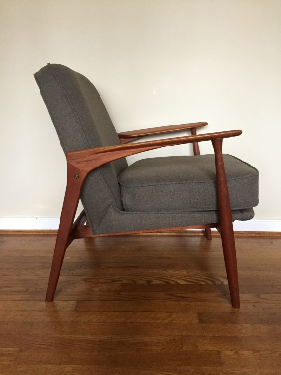 Danish Modern Teak Upholstered Armchair  EPOCH
