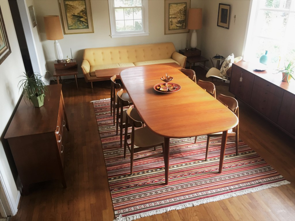 Danish modern teak dining table