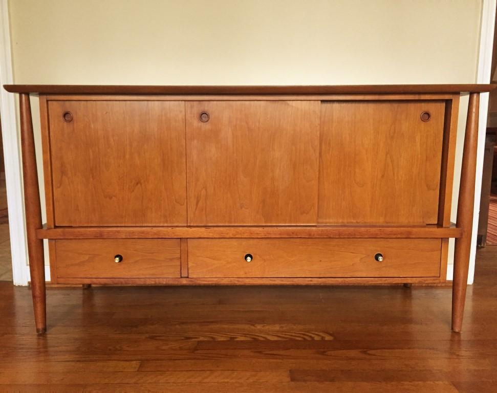 mid century modern sliding door credenza mt airy furniture