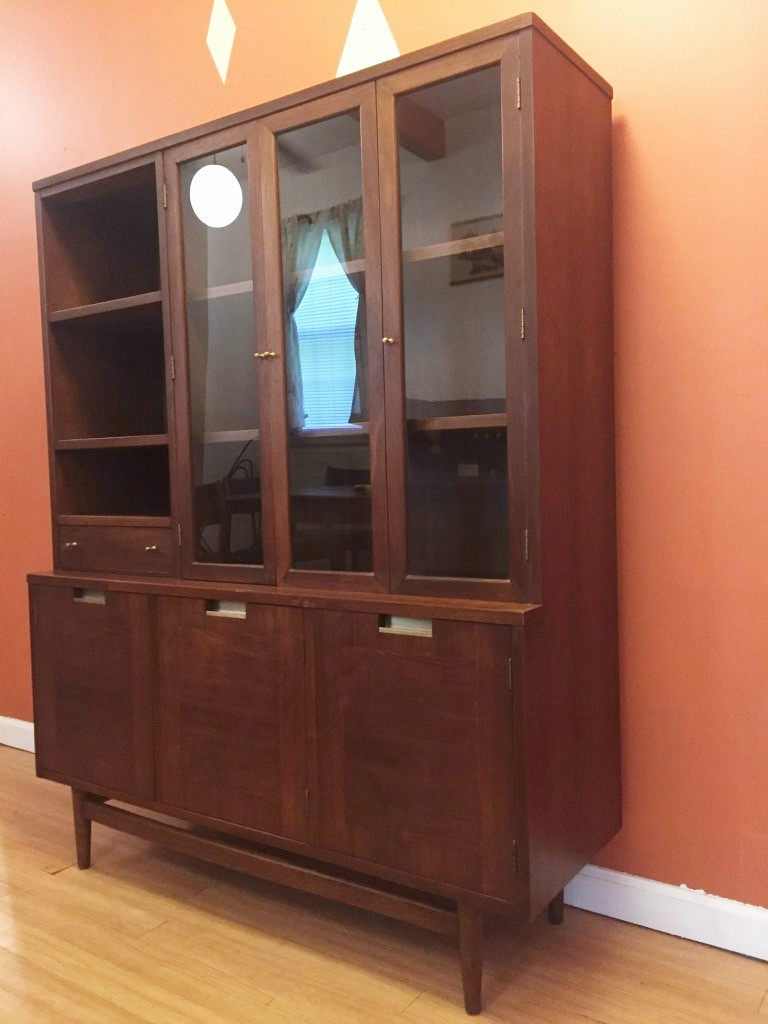mid century modern china cabinet american martinsville