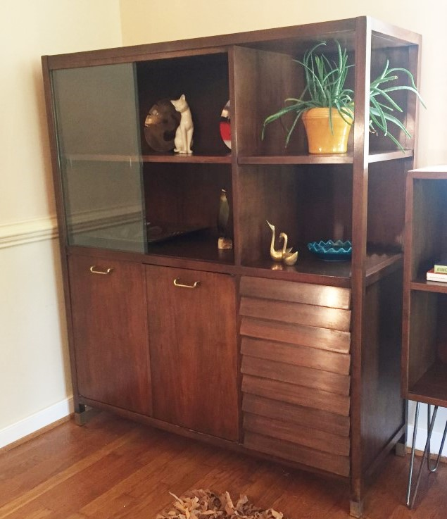 mid century modern storage display cabinet merton gershun dania collection american of martinsville