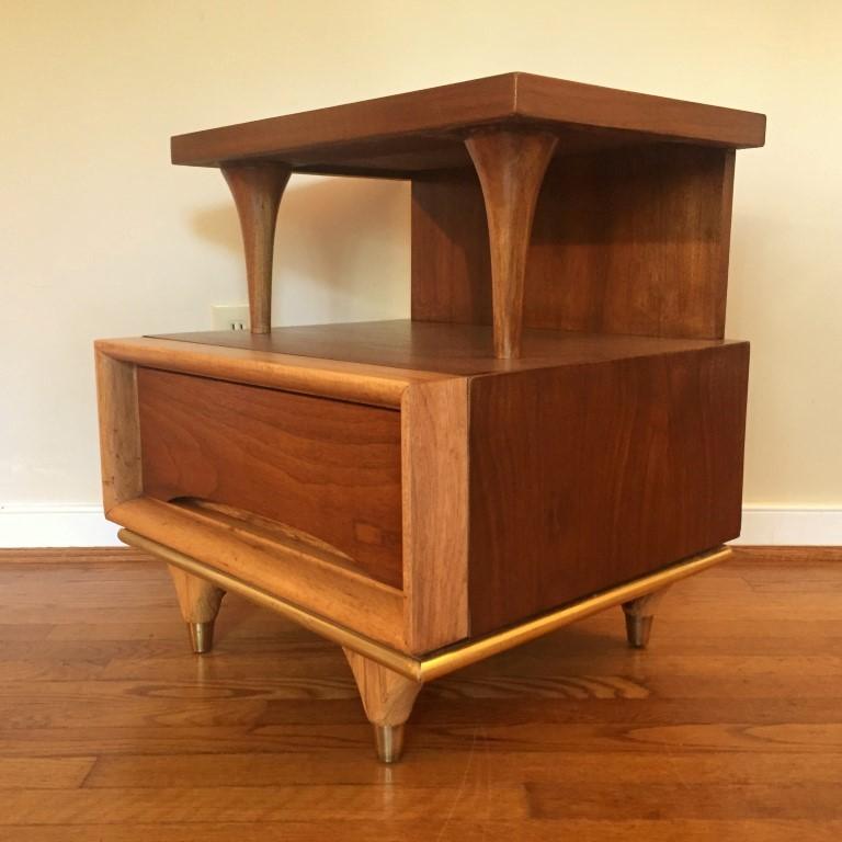 mid century modern nightstands kent coffey elegante