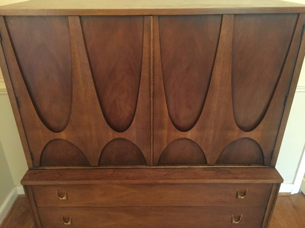vintage mid century modern broyhill brasilia gentleman's chest