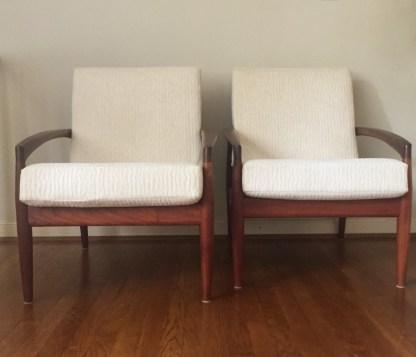 vintage danish modern teak lounge chair Kai Kristiansen Magnus Oleson