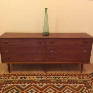 danish modern mid century teak lowboy dresser