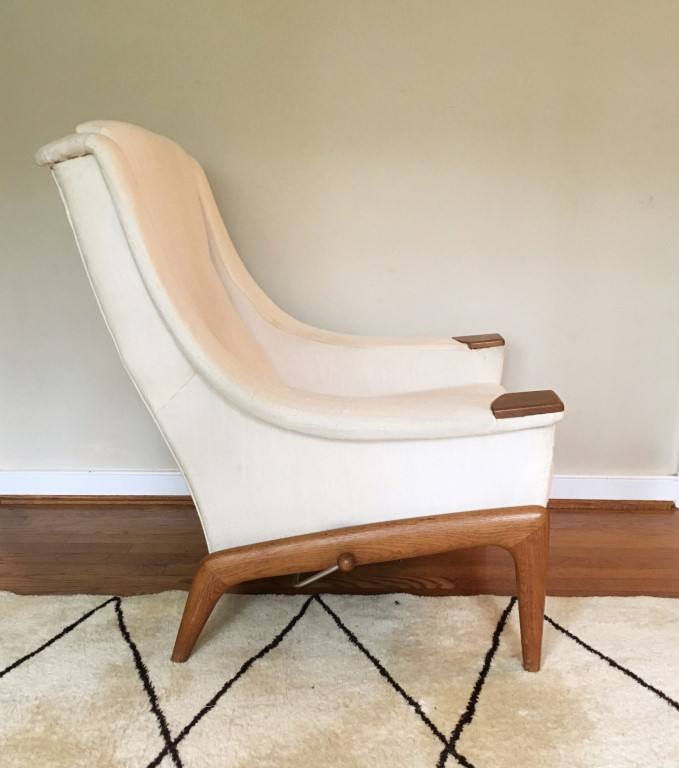 Swell Swedish Mid Century Teak Lounge Chair Ottoman Pabps2019 Chair Design Images Pabps2019Com