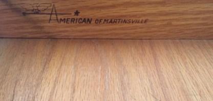 mid century modern walnut dresser american of martinsville dania merton gershun
