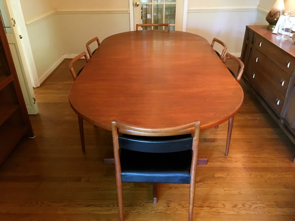 Danish Modern Teak Dining Table With Six Chairs By Munch Mobler Epoch